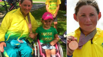 Girl with dreams of becoming Paralympian meets her hero