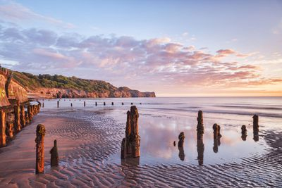 Whitby beach in Yorkshire