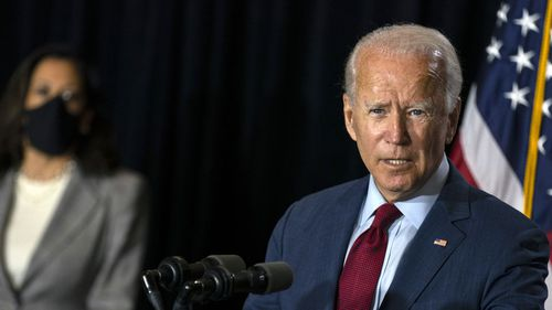 Joe Biden's campaign has criticised Donald Trump's praise of QAnon, stating that the group has been described by the FBI as a 'domestic terrorism threat'.