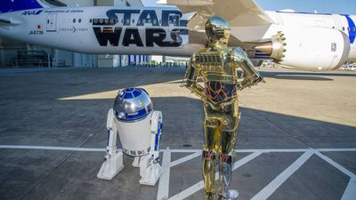 Star Wars fans can watch all six of the films during the flight. (Facebook)