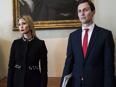 Ivanka Trump and Jared Kusher in Washington income drop