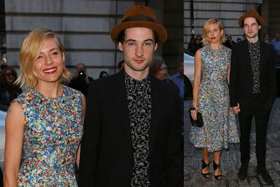 Sienna Miller supports her fianc&#233; Tom Sturridge at the premiere of his latest film <i>Effie Gray</i> in London.