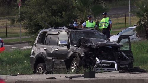 The black Mitsubishi Pajero hit a second passenger car a short time after the police pursuit was called off.