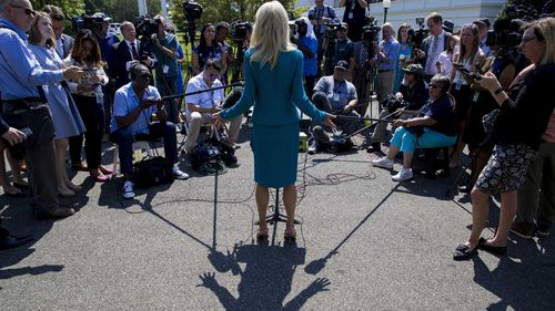 Kellyanne Conway demanded to know the ethnicity of a reporter who asked her about Donald Trump's racist tweets.