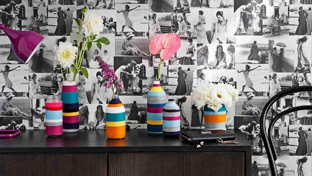 Woolly vases