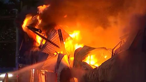 Police are investigating reports of arguments heard before the blaze.