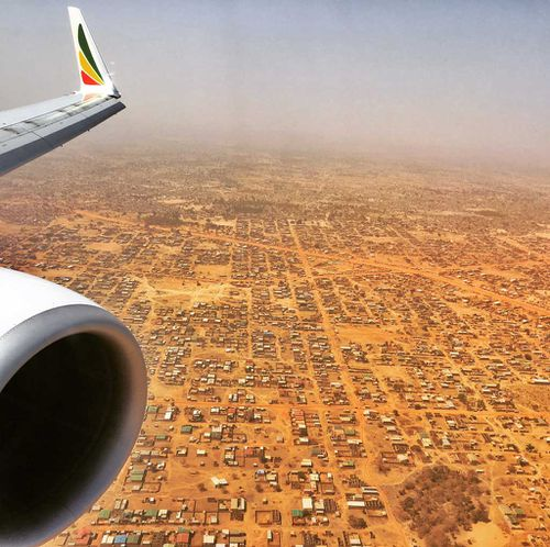 The landlocked west African nation as seen from the air. (9NEWS)