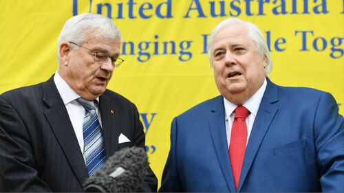 Clive Palmer has announced a political comeback, with former One Nation Senator Brian Burston his first recruit. (AAP)