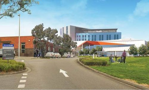Artist's impression of the new Casey Hospital. (Supplied)