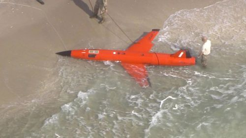 A military drone washed up on Boynton Beach on March 19.