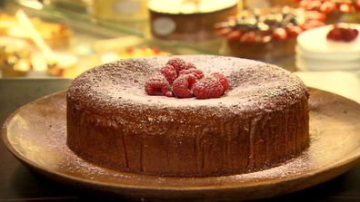 Livinia bakes a raspberry and almond flourless cake