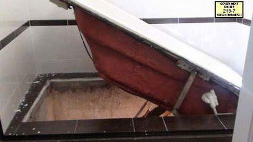 Joaquin 'El Chapo' Guzman fled the authorities through a trapdoor under his bathtub.