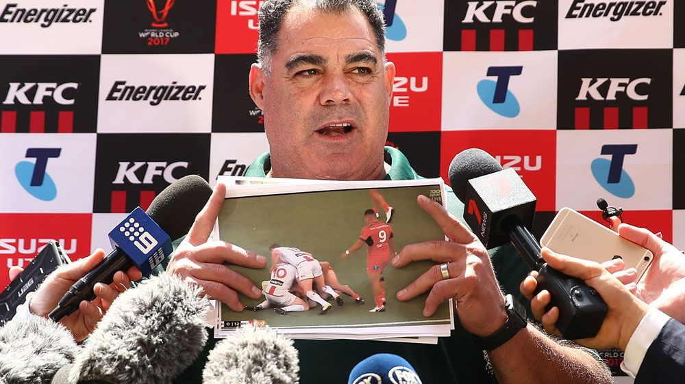 Kangaroos coach Mal Meninga hits back at Wayne Bennett ahead of World Cup final