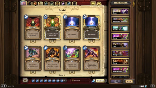 Hearthstone is a free-to-play online digital collectible card game developed and published by Blizzard Entertainment