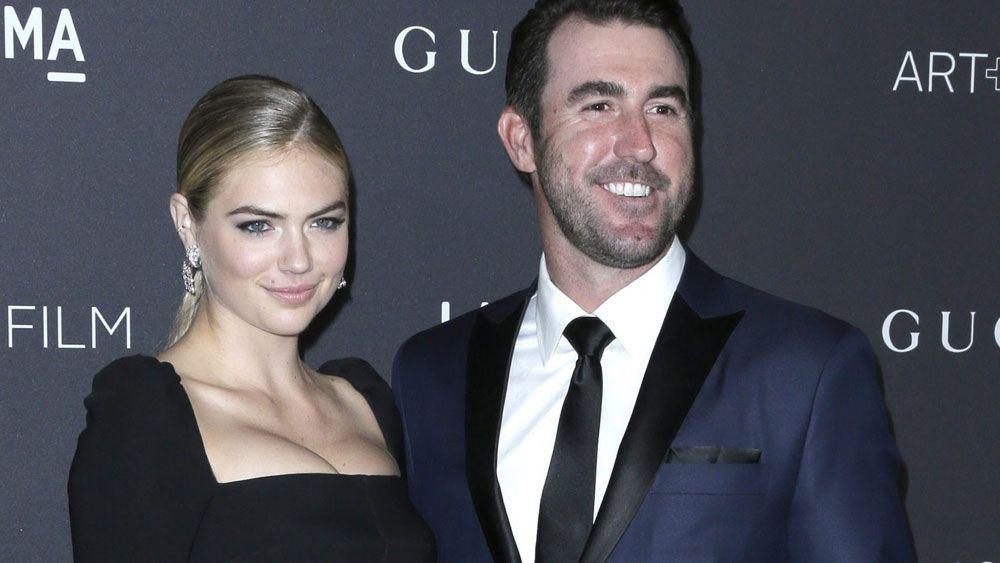 Kate Upton has defended fiancee Justin Verlander over an MLB awards snub. (AAP)