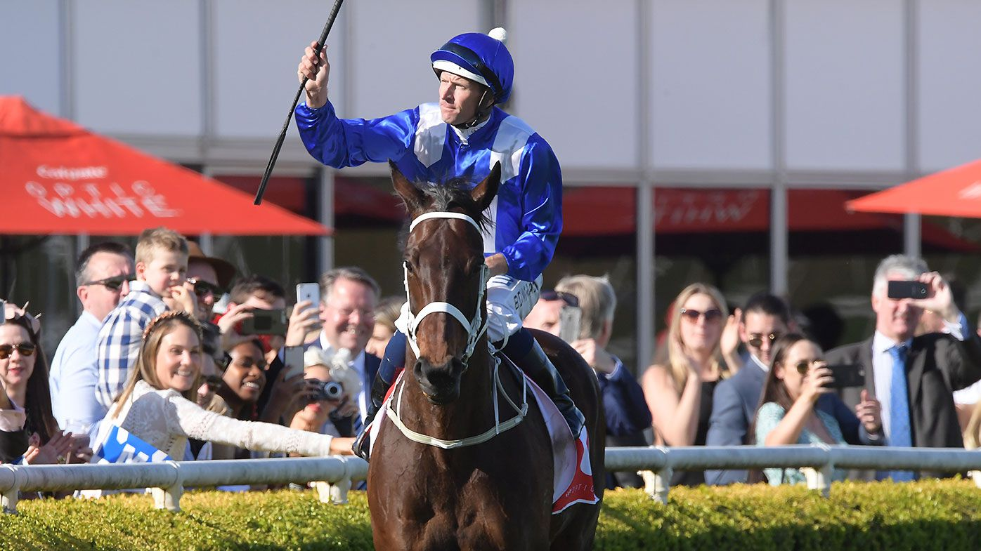 Winx wins the Turnbull Stakes at Flemington for 28th consecutive victory