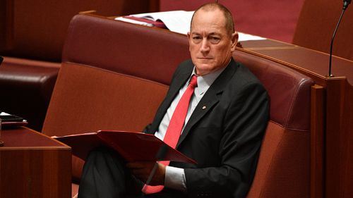 Fraser Anning's speech raised eyebrows.