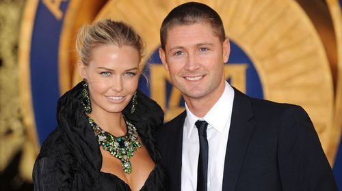 Lara Bingle and Michael Clarke at the Allan Border Medal in 2009. (AAP)