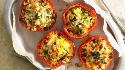 Mexican rice-stuffed capsicums