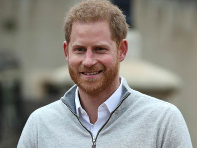Prince Harry fronts the media as a proud dad.