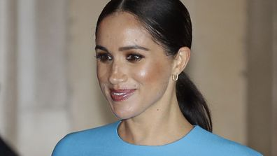 Meghan Markle, the Duchess of Sussex leaves after attending the annual Endeavour Fund Awards in London on March 5, 2020