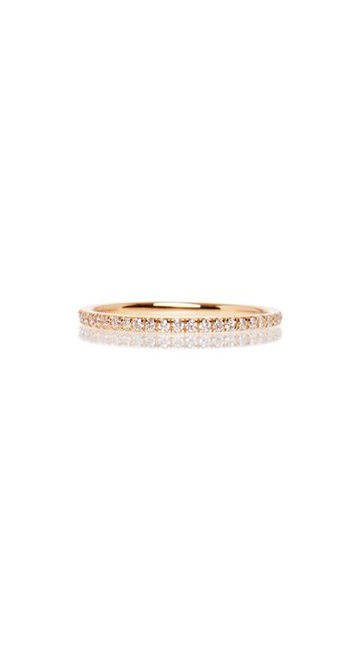 "<a href="" http://www.greenwithenvy.com.au/product_details.php?id=10019030013"">Thread Band Pink Gold, $1,625, Ileana Makri</a>"