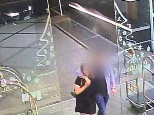One of the last images of Grace Millane taken entering the CityLife hotel with her killer on the night she was murdered.