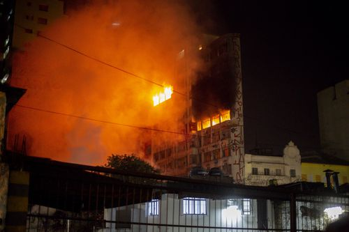 The building was located in the downtown area of Sao Paulo. (AP/AAP)