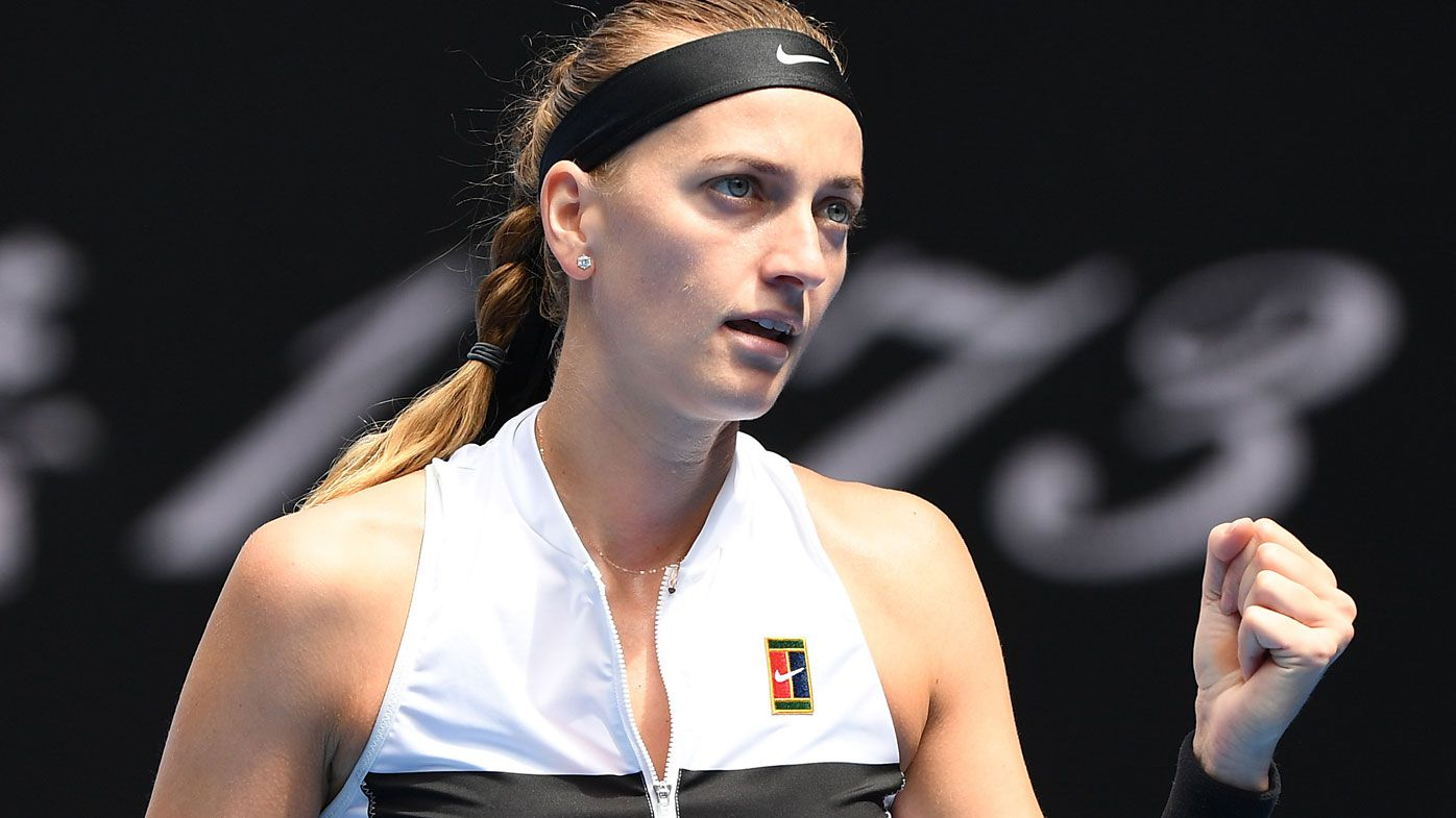 Red-hot Kvitova blazes past Collins into Open final