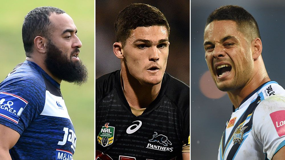Sam Kasiano, Nathan Cleary and Jarryd Hayne, (AAP)