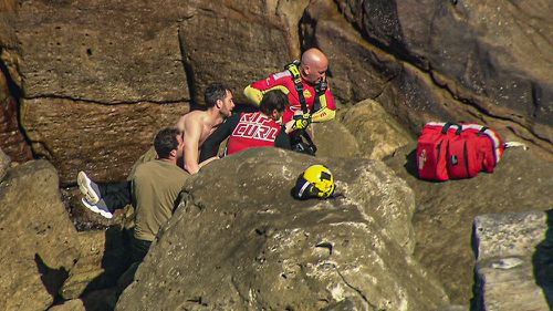A woman has died after falling from a cliff in Vaucluse this morning.