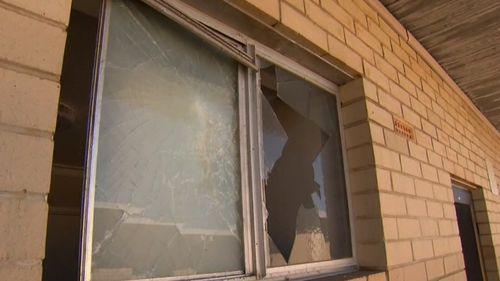 The man smashed a window as well as the front door, before  gaining entry to the premises. Image: 9News