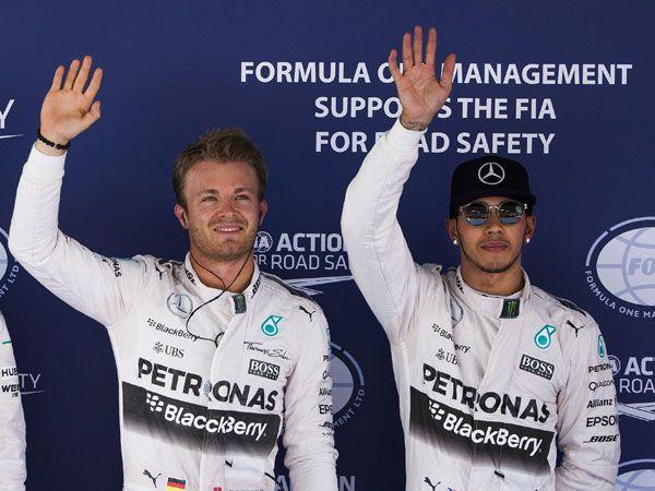 Nico Rosberg has beaten teammate Lewis Hamilton to pole of the Spanish GP. (AFP)