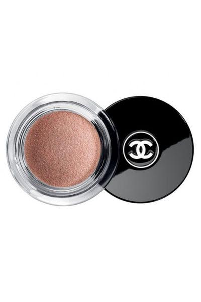 """<a href=""""http://shop.davidjones.com.au/djs/en/davidjones/illusion-dombre-long-wear-luminous-eyeshadow"""" target=""""_blank"""">Illusion D'Ombre Eyeshadow in Émerveillé, $48, Chanel</a>"""