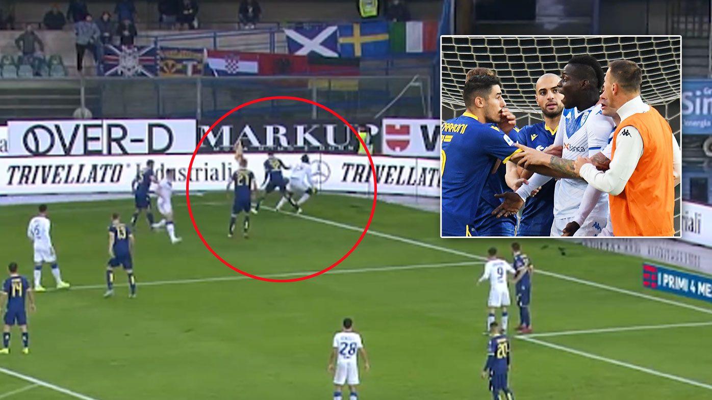 Mario Balotelli kicks ball at fans, threatens to walk after hearing racist chants