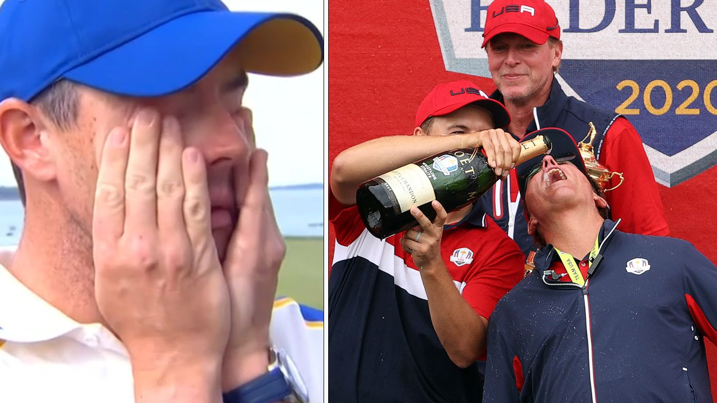 Tears and beers after USA's dominant Ryder Cup triumph