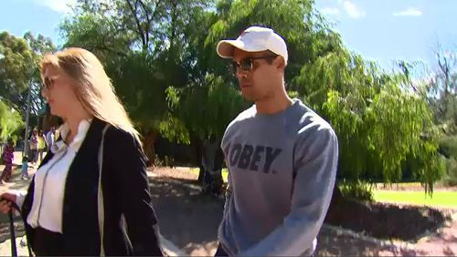 Yarran pleaded not guilty to the burglary charge, for which he's accused of entering a home without permission with the intent to commit harm. Picture: 9NEWS.