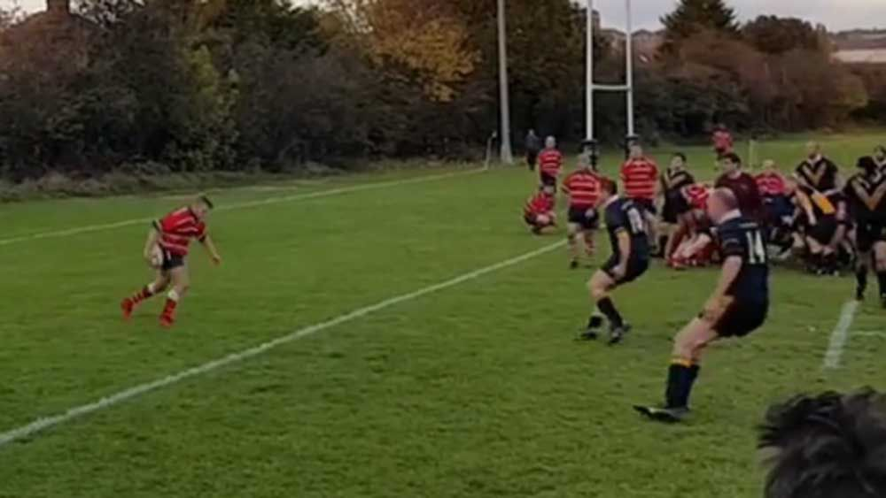 Rugby: Player stuns with overhead back-heel flick