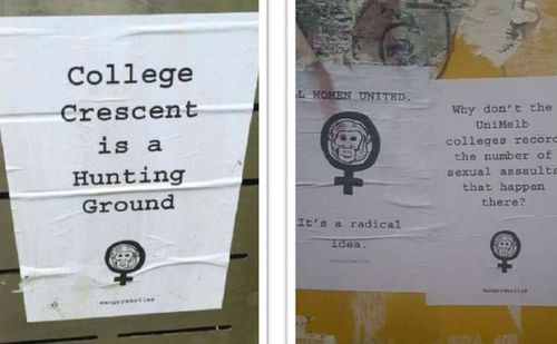 Posters at University of Melbourne in 2016 (The Red Zone)