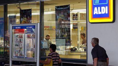 Aldi shop front in Melbourne