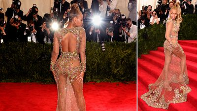 Singer Beyonce Knowles wore a custom Givenchy Haute Couture by Riccardo Tisci, reminding us why she's known as Queen Bey. (AAP)