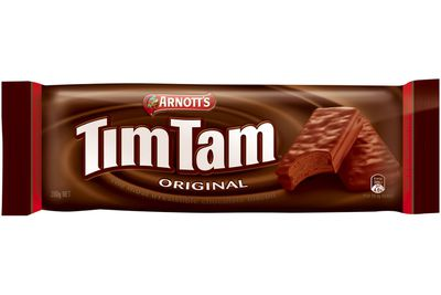 A little over 1 Tim Tam Original biscuit is 100 calories