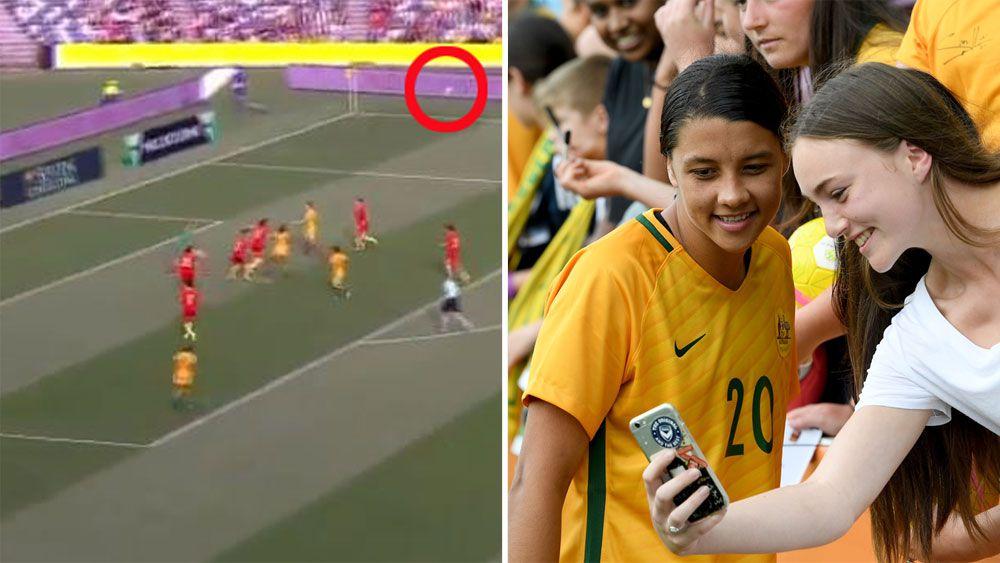 Matildas' Sam Kerr strikes China twice despite lightning interrupting Australia's victory