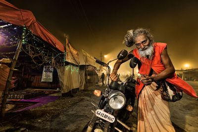<strong>Sadhu and His Motorbike</strong>