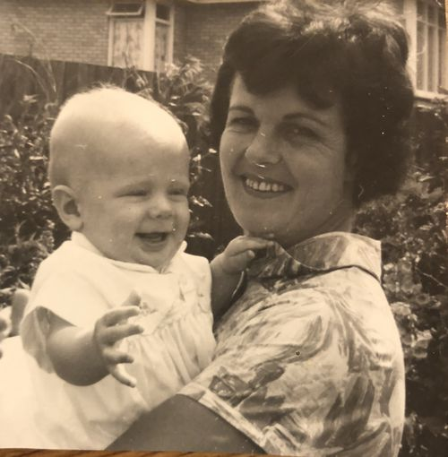 Merle McLeod pictured with baby Brett.