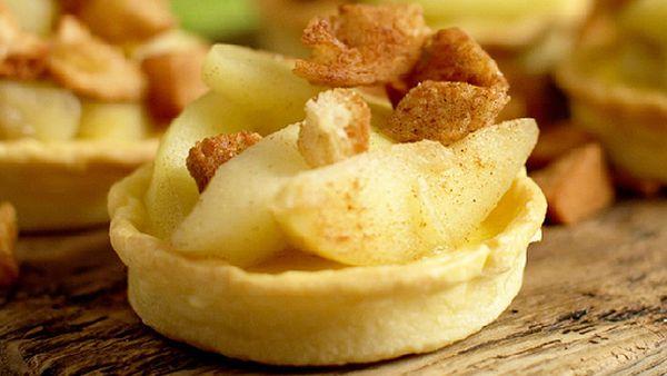 Matt Stone's re-pie-cled baked custard, apple and bread tart