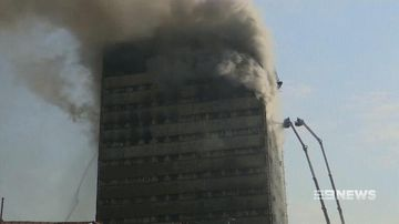 VIDEO: Tehran's tallest building collapses after an inferno