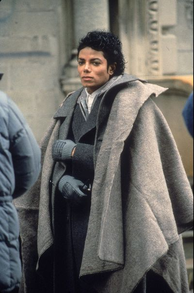 Michael Jackson on set of his music video Bad directed by Martin Scorsese, November 1986