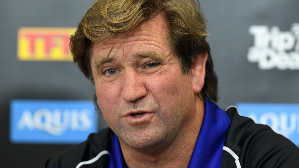 NRL: Jim Dymock pushes case as Des Hasler a no-show at Canterbury Bulldogs training