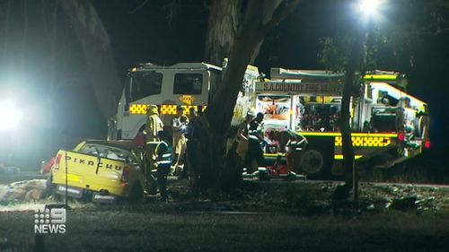 A father-of-three is dead, and his friend is fighting for life in hospital, after a crash at Brukunga in the Adelaide Hills.